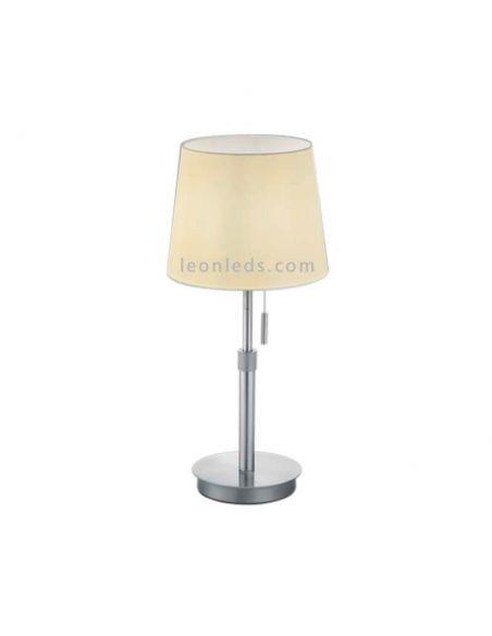 Lámpara de sobremesa Lyon Trio Lighting Níquel Mate