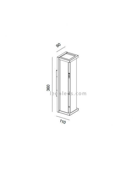 Dimensiones Aplique exterior Meribel 6493