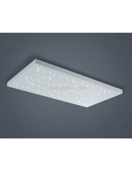 Plafón LED rectangular blanco Titus