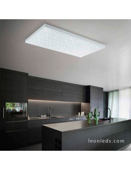 Plafon LED rectangular blanco Titus Trio Lighting