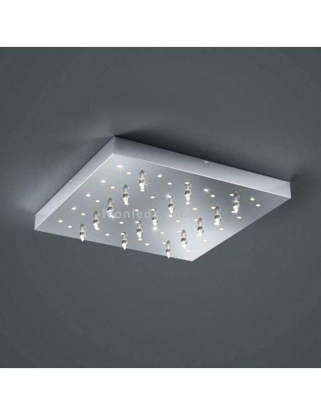 Plafón LED cromado serie Titus