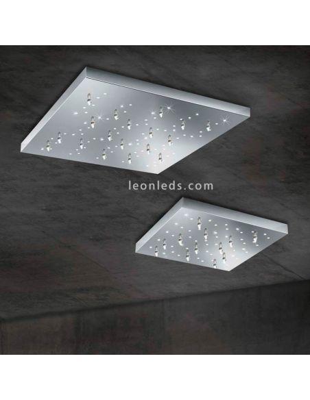 Plafon LED cromado serie Titus Trio Lighting