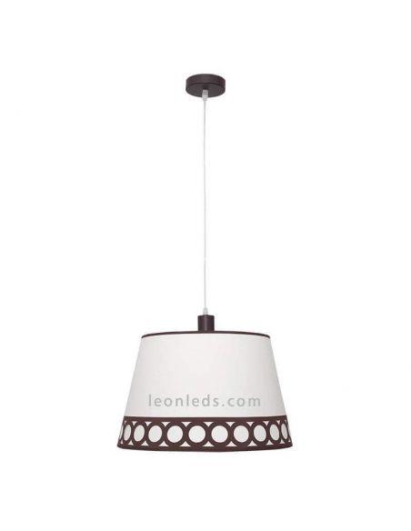 Lámpara de techo Dalia Marrón y Beis