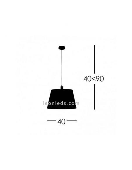 Dimensiones Lámpara de techo Dalia