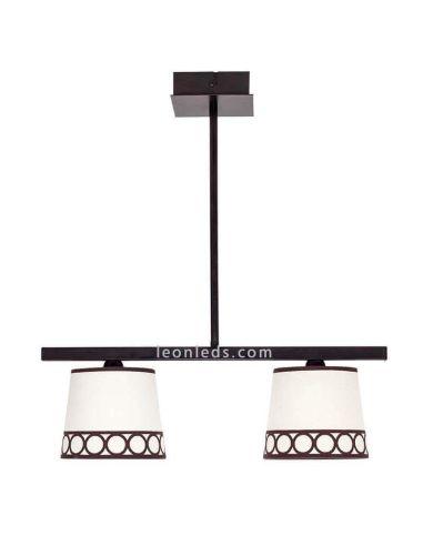 Lámpara de techo 2 luces Marrón y Beis