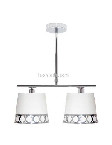 Lámpara de techo 2 luces plateada Dalia