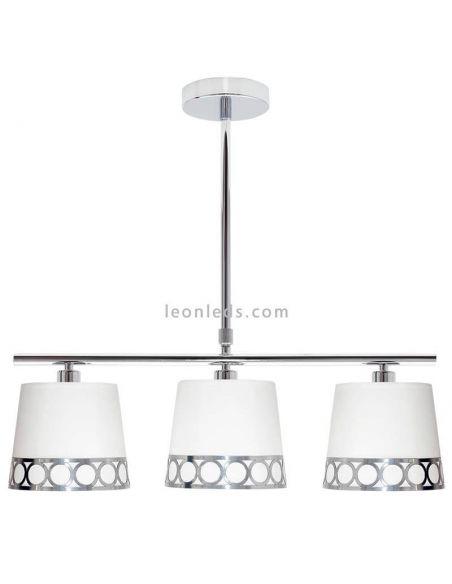 Lámpara de techo moderna 3 Luces Plateada