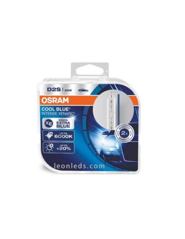 Bombillas Xenon D2S Osram Cool Blue Intense Duo