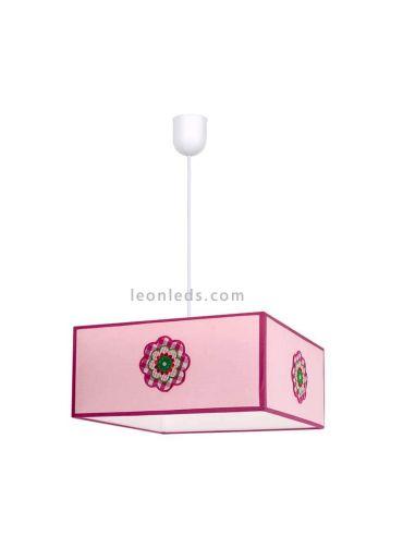 Lámpara de techo rosa de Fabrialmp serie Pétalo | LeonLeds iluminación
