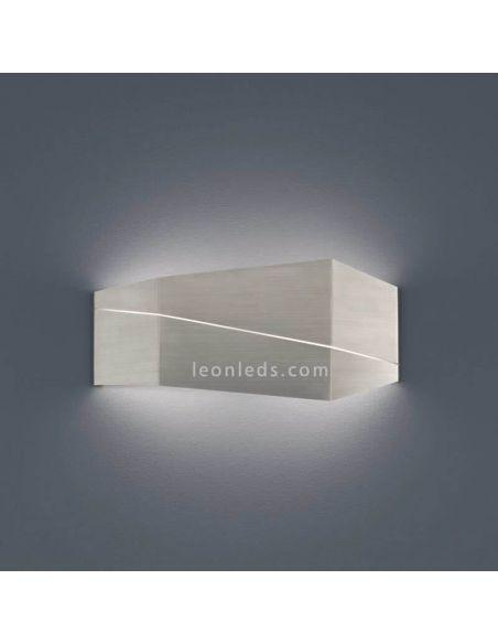 Aplique LED metálico grande Níquel Mate