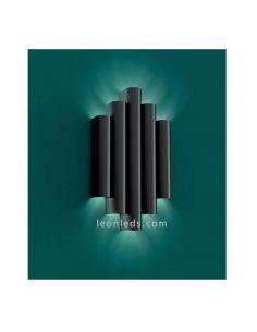 Aplique LED negro texturizado Robin ACB