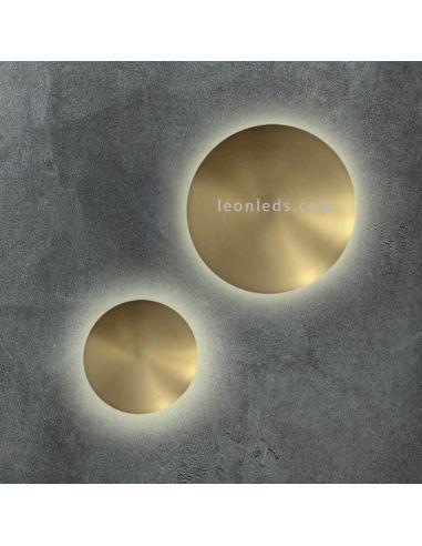 Aplique LED redondo Dorado Varali