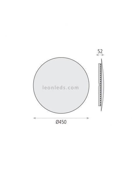Medidas Aplique LED Varali ACB Ilumición