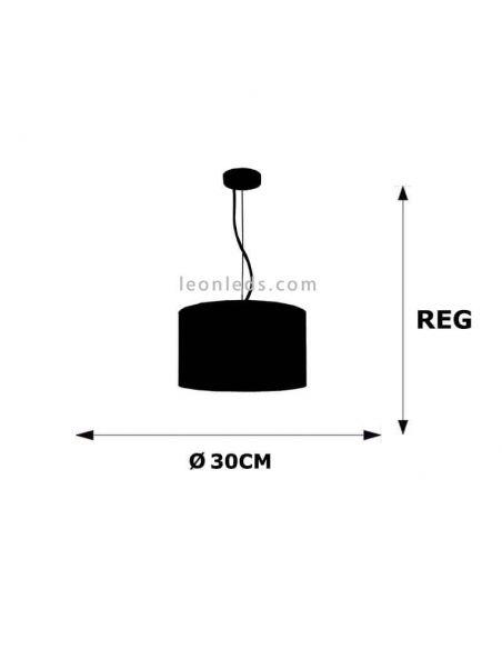 Dimensiones Lámpara de techo Nicole Marrón Topo 30Cm