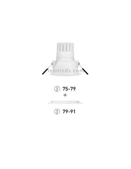 Downlight Swap Arkos Light LED Empotrable diseño 7w talla M de colores Blanco Rojo Dorado Negro | LeonLeds