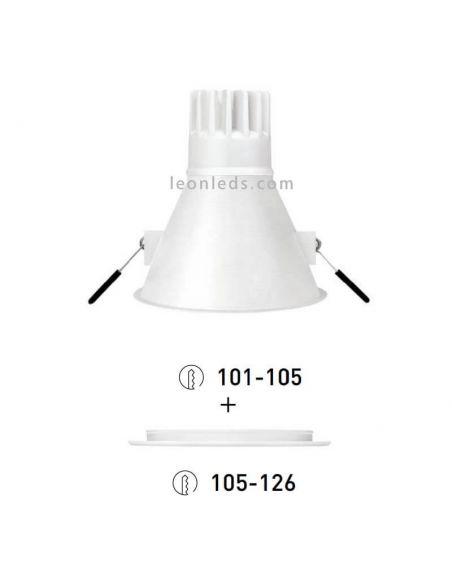Swap Arkos Light LED Empotrable de diseño 5W talla XL grande Blanco Naranja Doardo Gris metalizado Negro mate | LeonLeds
