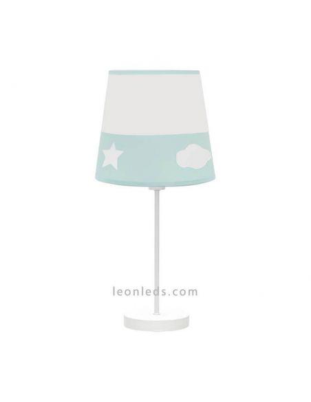 Lámpara infantil verde de sobremesa