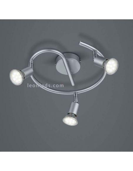 Regleta de focos redonda Titán serie paris de Trio Lighting