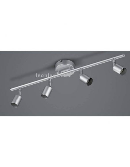 Regleta de 4 focos orientables titán serie Paris Trio Lighting