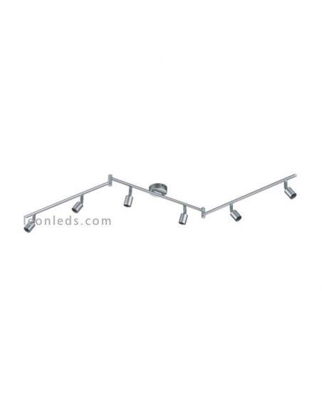 Regleta de 6 focos orientables serie Titan Paris Trio Lighting