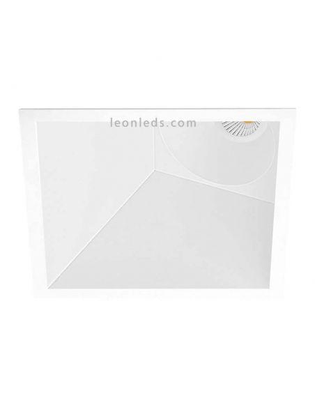 Downlight Led SWAP Cuadrado 7W Square Blanco Naranja Dorado Gris Negro Mate Empotrable corte Cuadrado Asimétrico | LeonLeds