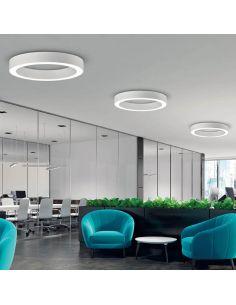 Plafon LED grande blanco serie Aliso de la marca