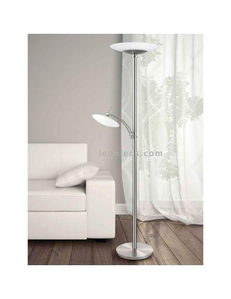 Lámpara de pie LED con brazo lector Elino