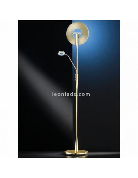 Lámpara de pie LED quebec bronce mate