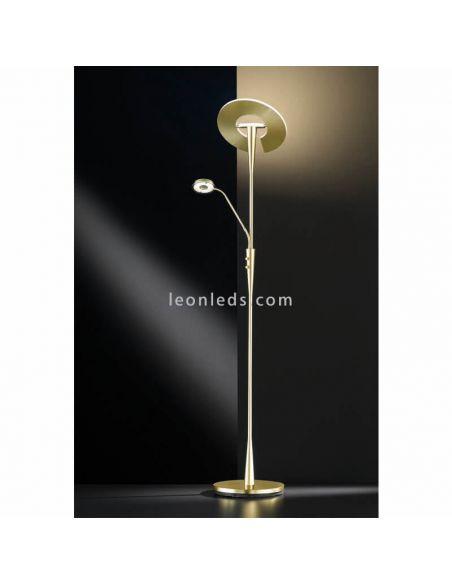 Lámpara de pie LED bronce mate quebec