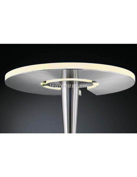 Lámpara de pie LED bronce mate dorada Quebec