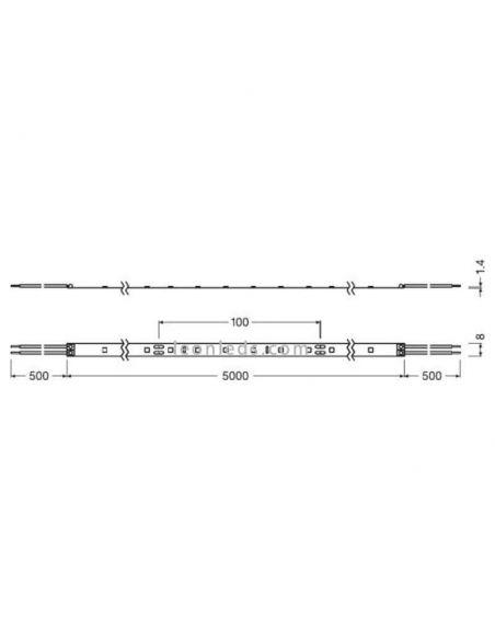 Dimensiones Tira LED Osram Value Class