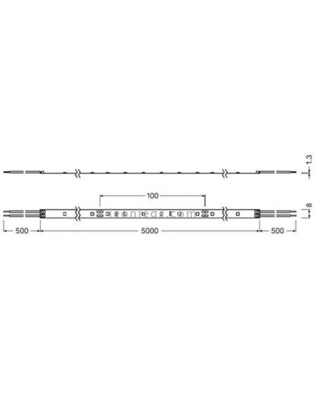 Dimensiones Tira LED interior Osram LedVance