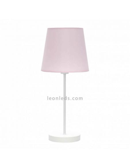 Lámpara de mesa rosa y blanca de Fabrilamp