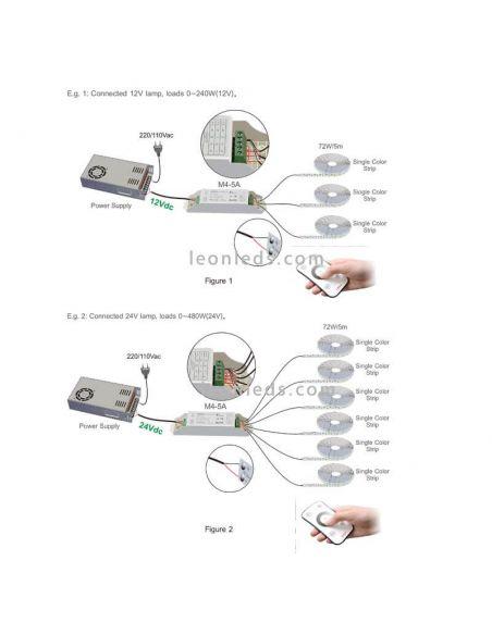 Como conectar controlador Tira LED monocolor