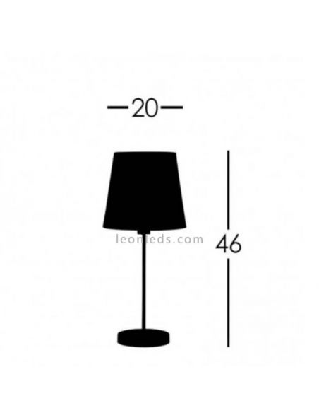 Lámpara de mesa Cuero Maldivas