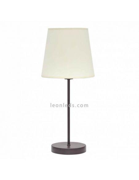 Lámpara de sobremesa Marrón y Beis de Fabrilamp
