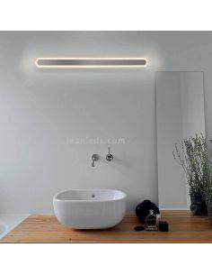 Aplique LED para espejo de baño Rectangular