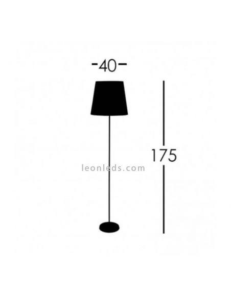 Lámpara de Pie Verde de Fabrilamp