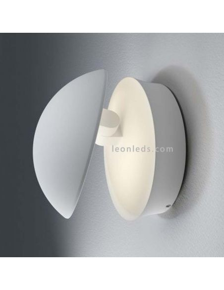 Aplique LED exterior redondo blanco