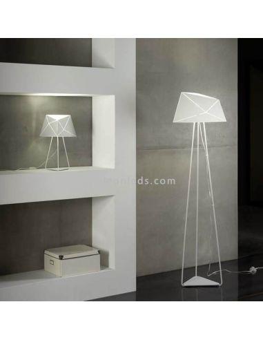 Lámpara de pie moderna de color blanca serie Slide