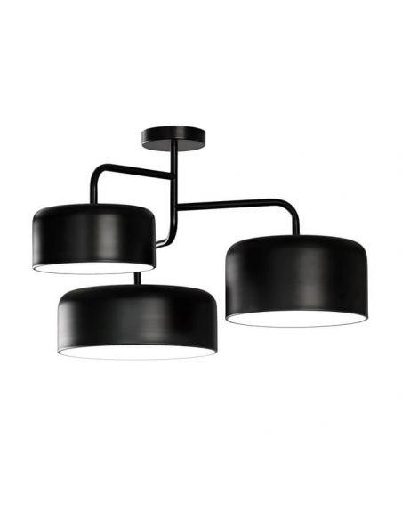 Lámpara de techo de diseño negra mate serie Tono de FM Iluminación