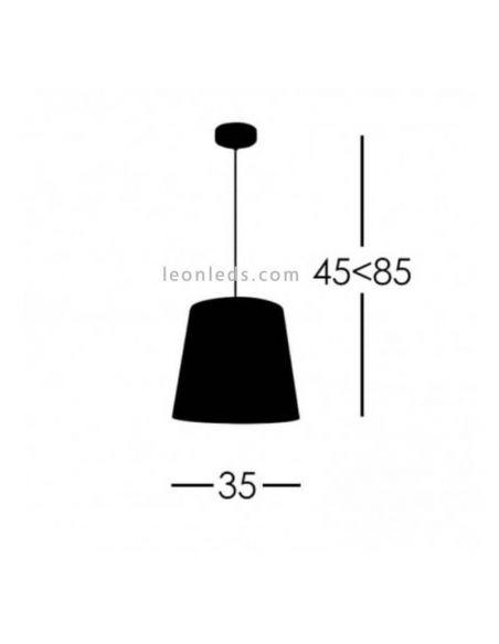 Lámpara de techo Blanca de Fabrilamp