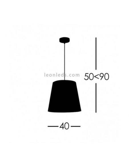 Lámpara Maldivas de techo Piedra 40Cm
