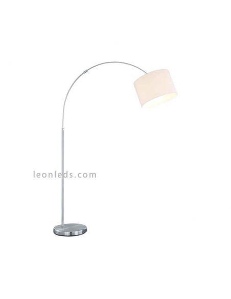 Lámpara de pie arco blanca serie Hotel