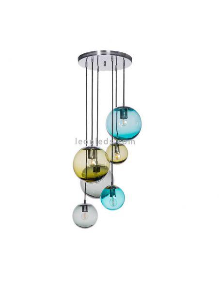 Lámpara colgante Bacan de cristal FamLight