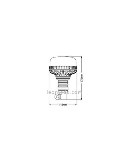 Dimensiones rotativo LED homologado barato