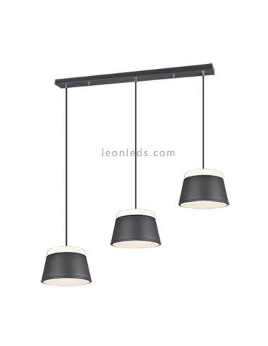 Lámpara de techo 3 luces negra Baroness Trio Lighting