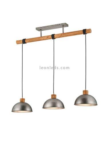 Lámpara de techo 3 luces industrial