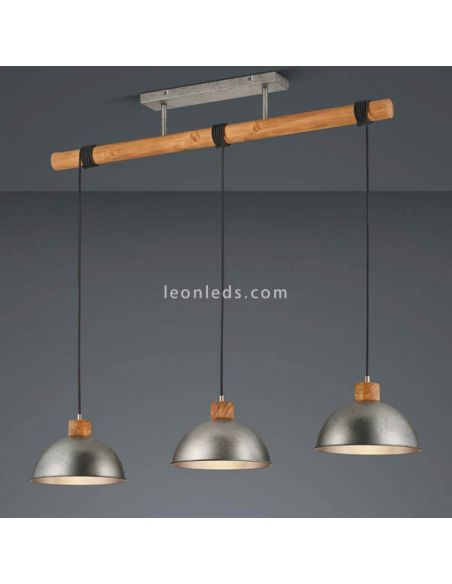 Lámpara de techo 3 luces industrial LeonLeds Iluminacion