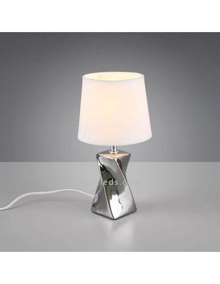 Lámpara de mesa Abeba color plata | LeonLedsiluminacion